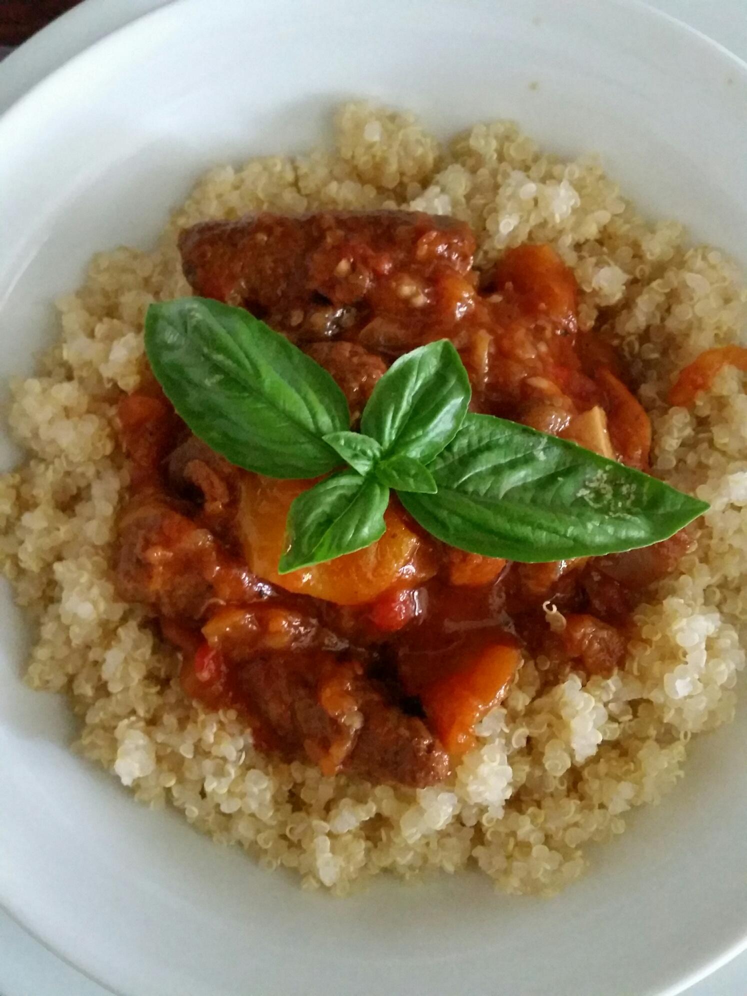 quinoa al sugo rosso