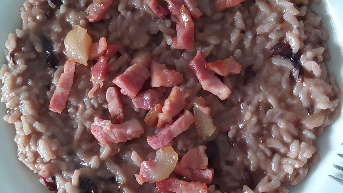 risotto, trevigiana e pancetta